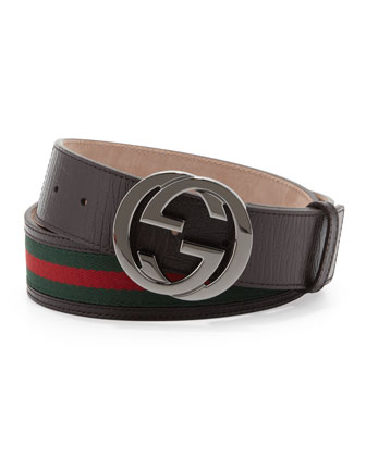 Interlocking G Belt, Cocoa