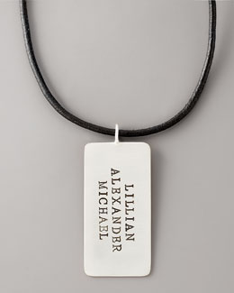 Heather Moore Personalized Dog Tag, 3 Lines