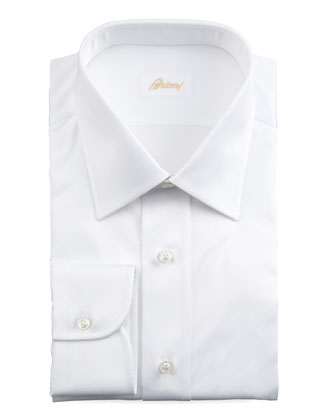 Barrel-Cuff Dress Shirt, White