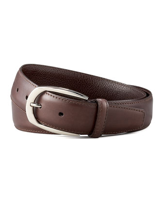 Calfskin Belt, Brown