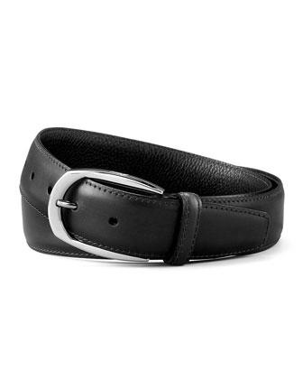 Calfskin Belt, Black