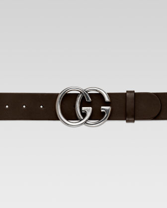 Men's GG Adjustable Belt, Brown