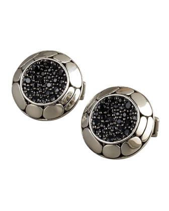 Kali Black Sapphire Cuff Links