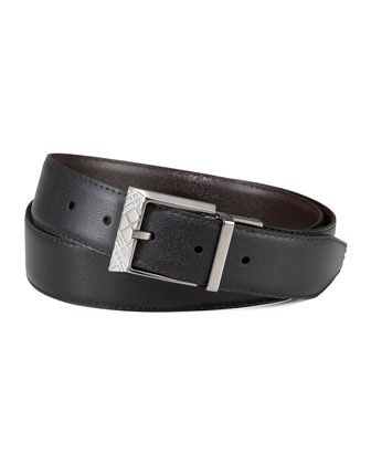 Reversible Check-Buckle Belt