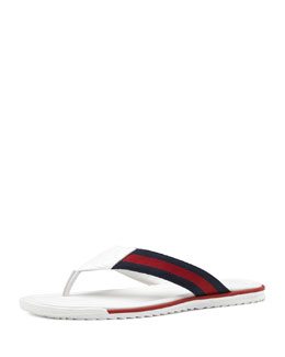 Gucci Thong Sandal with Web Detail