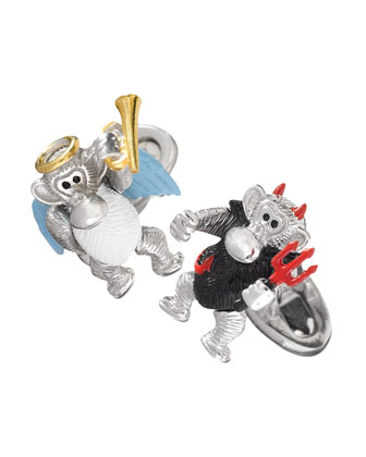 Devil & Angel Monkey Cuff Links
