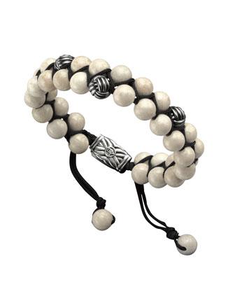 Spiritual Bead Woven Bracelet, Riverstone