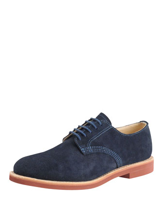 Suede Derby, Navy