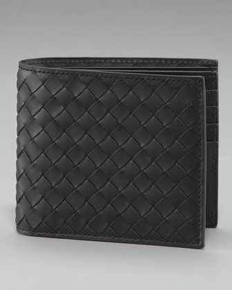 Basic Woven Wallet, Black