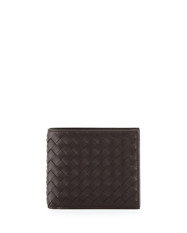 Mens Basic Woven Wallet, Brown   Bottega Veneta   Brown