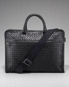 Softie Slim Woven Briefcase, Black