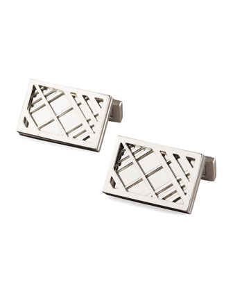 Cage-Check Cuff Links