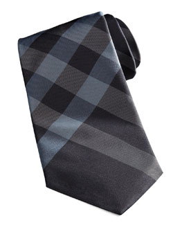 Burberry Exploded-Check Tie, Navy