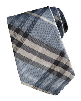 Burberry Basic Check Tie, Light Blue