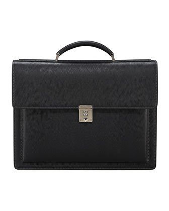 Revival One-Gusset Briefcase, Black