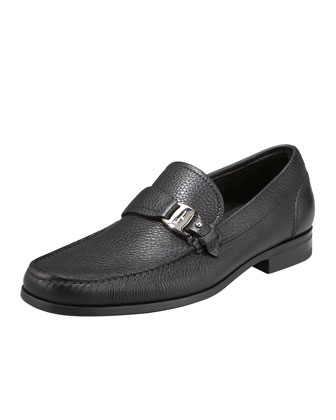 Bravo Buckle Loafer, Black