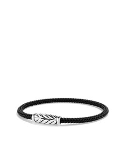 David Yurman Maritime Bracelet, Black Rubber