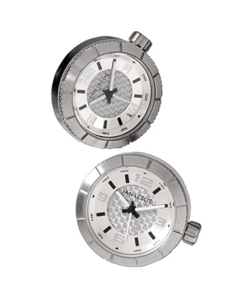 Sport Watch Cuff Links, Silver