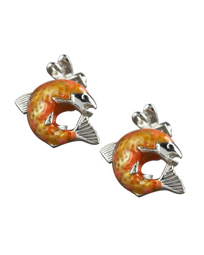 Salmon Cuff Links