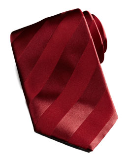 New Avanti Striped Tie, Red