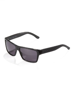 Gucci Diamante Plastic Sunglasses, Black