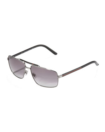 Web Navigator Sunglasses, Ruthenium