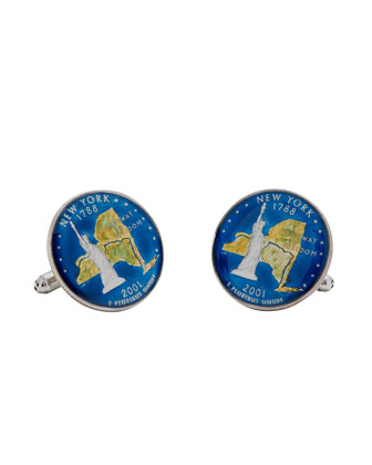 New York Quarter Cuff Links