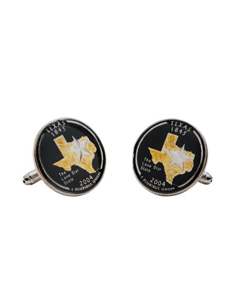 Texas Quarter Cuff Links