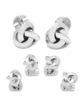 Knot Cuff Links & Studs Set