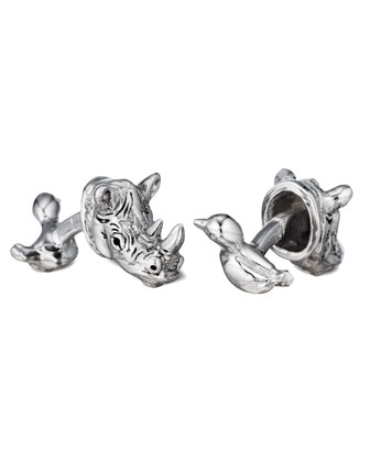 Rhino & Bird Cuff Links