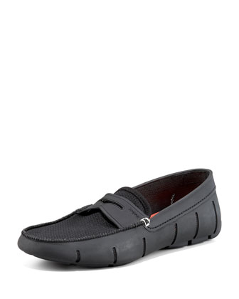 Rubber Penny Loafer, Black