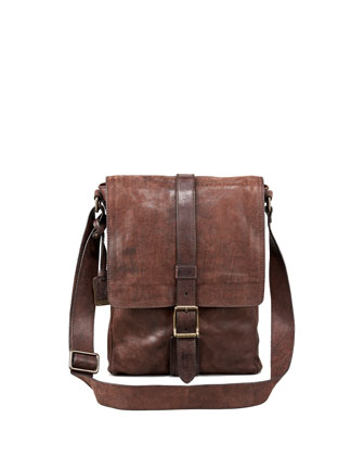 Logan Leather Messenger Bag, Small