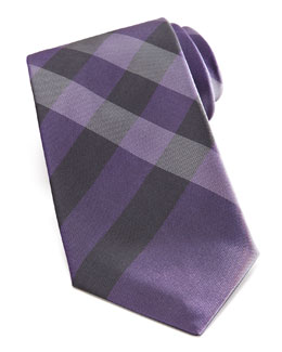Burberry Exploded Check Tie, Purple