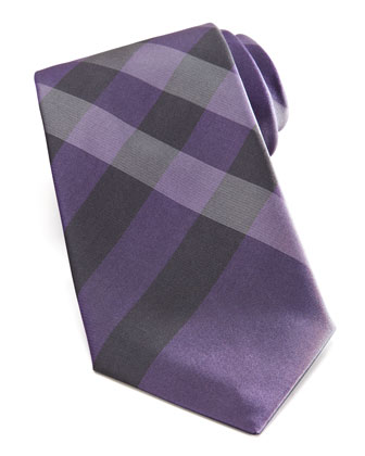 Exploded Check Tie, Purple