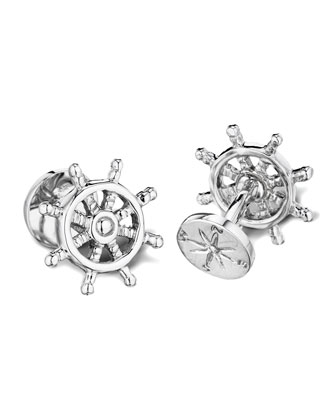 Ship Wheel & Compass Cuff Links