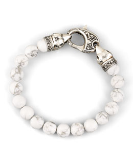Stephen Webster 10mm Howlite Bead Bracelet