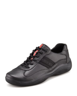 Prada Eagle Basic Leather Sneaker