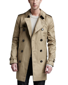 Burberry London Poly-Cotton Trenchcoat, Fallow