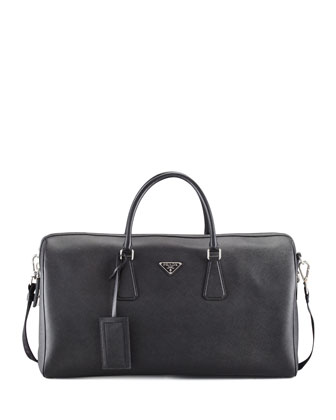 Saffiano Duffel Bag, Black