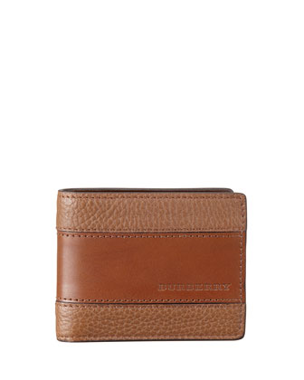 London Leather Wallet, Mushroom