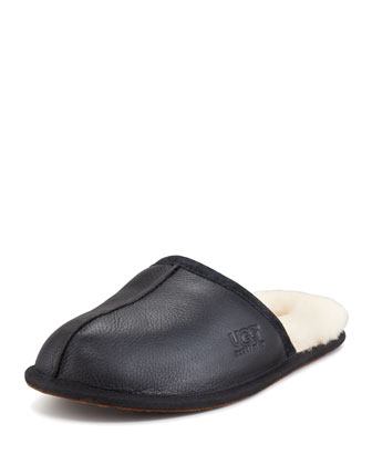 Scuff Mule Slipper, Black