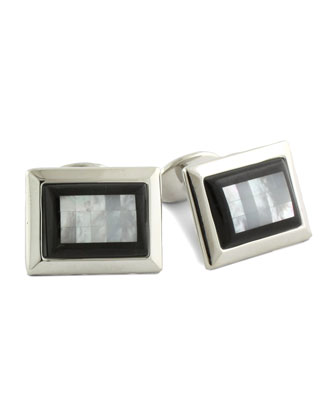 Tile Cuff Links, Black