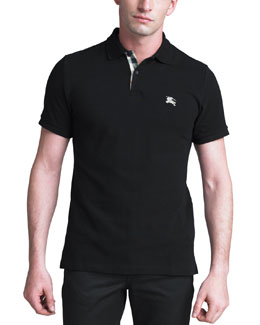 Burberry Brit Modern-Fit Logo Polo, Black