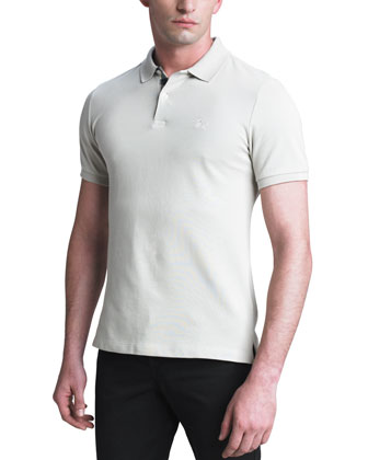 Modern-Fit Logo Polo, Trench