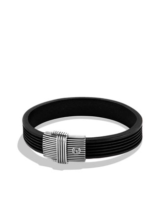 Royal Cord ID Bracelet in Black