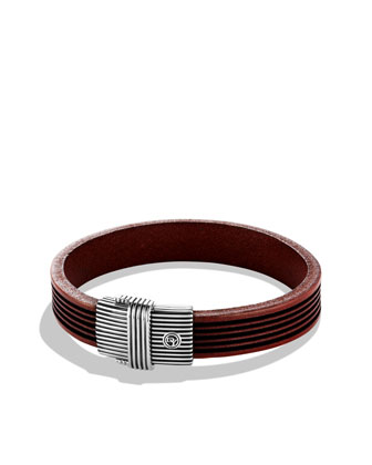 Royal Cord ID Bracelet in Brown