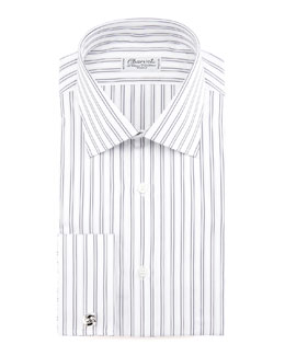 Charvet Striped French-Cuff Dress Shirt