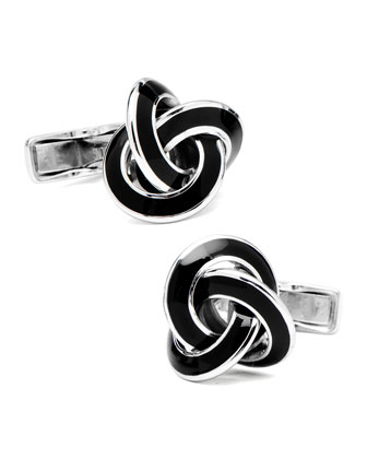 Enamel Knot Cuff Links