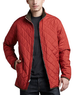 Peter Millar Chesapeake Quilted Jacket, Rust