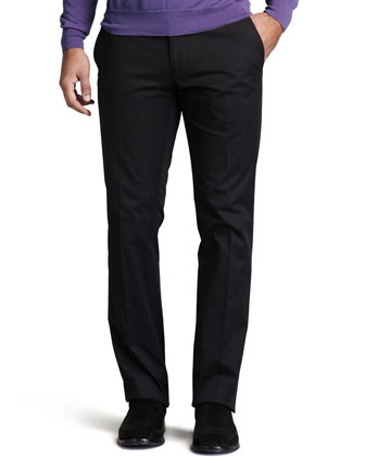 James Twill Pants, RL Black